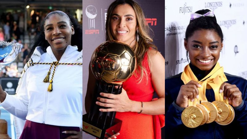 Serena Williams, Marta Silva e Simone Biles