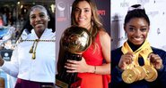 Serena Williams, Marta Silva e Simone Biles - GettyImages