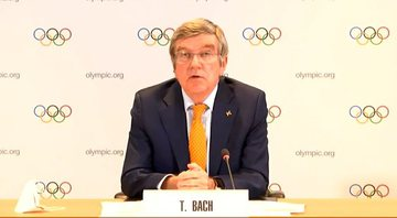 Thomas Bach, presidente do COI - Transmissão/COI
