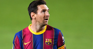 Messi em ação com a camisa do Barcelona - GettyImages