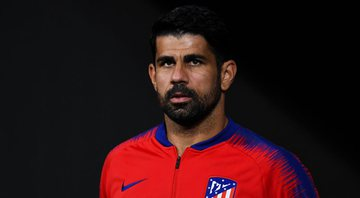 Diego Costa com a camisa do Atlético de Madrid - GettyImages