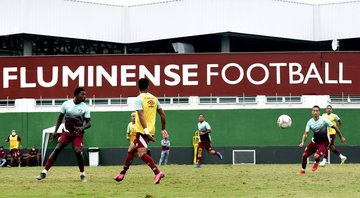 Elenco do Fluminense treinando - GettyImages