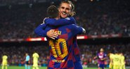 Messi e Griezmann comemorando gol do Barcelona - GettyImages