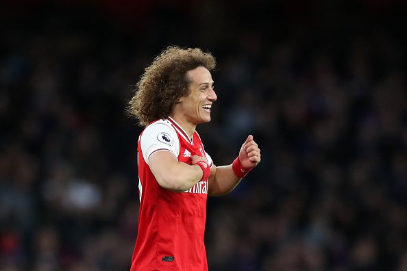 David Luiz, do Arsenal, durante partida