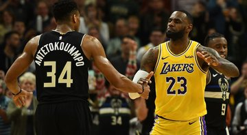 Lebron James vence duelo com Giannis  Antetokounmpo - Getty Images