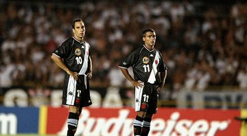 Edmundo e Romário no Vasco - GettyImages