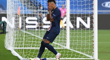 O jornal L'Équipe criticou a performance de Neymar contra o RB Leipzig - Getty Images