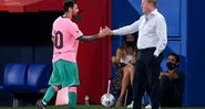 Koeman e Messi tentam se entender no Barcelona - GettyImages