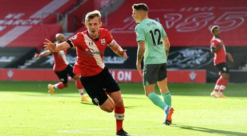 James Ward-Prowse e Che Adams foram os autores dos gols do Southampton - Getty Images