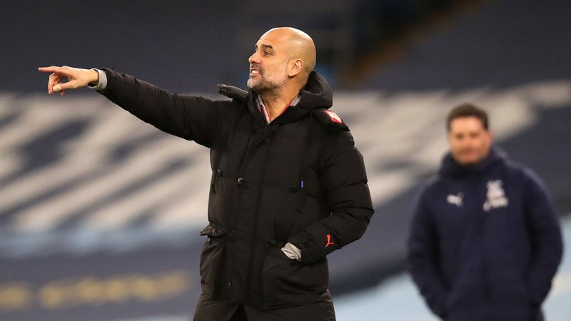 Pep Guardiola, treinador do City