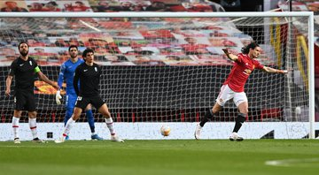 Cavani marcou o gol do United logo aos cinco minutos de jogo - Getty Images
