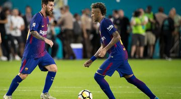 Messi e Neymar brilharam no Barcelona - GettyImages