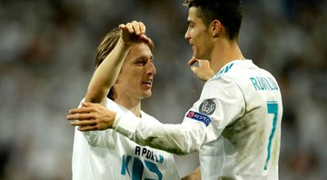 Modric e CR7 na época de Real Madrid - GettyImages
