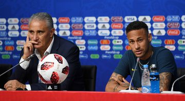 Tite e Neymar Jr. (Crédito: Getty Images)