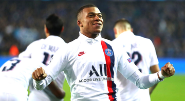 Mbappé comemorando gol pelo Paris Saint-Germain - GettyImages