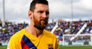 Messi com a camisa do Barcelona - GettyImages