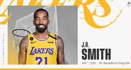 J.R. Smith assina com o Los Angeles Lakers para a retomada da NBA - Divulgação/ Lakers
