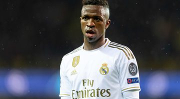 Arsenal estaria planejando negociar empréstimo de Vinícius Júnior junto ao Real Madrid - GettyImages